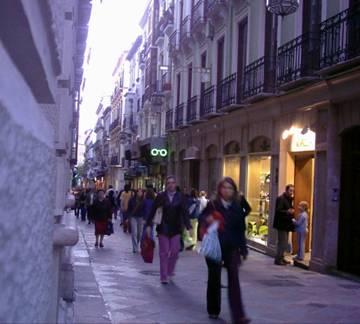 La calle Zacatín.